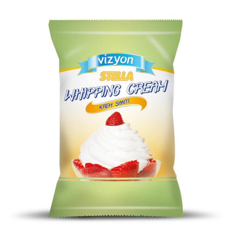 Vizyon Stella Whipping Cream Powder 1kg Lollipop Cake Supplies