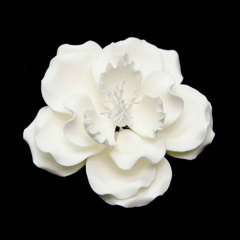 Dog rose sugar flower black or white stamens lollipop cake supplies mightylinksfo
