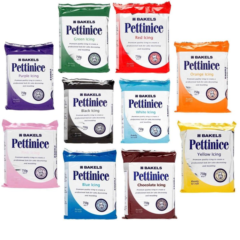 Bakels Pettinice Ready To Roll Fondant 750g Packs