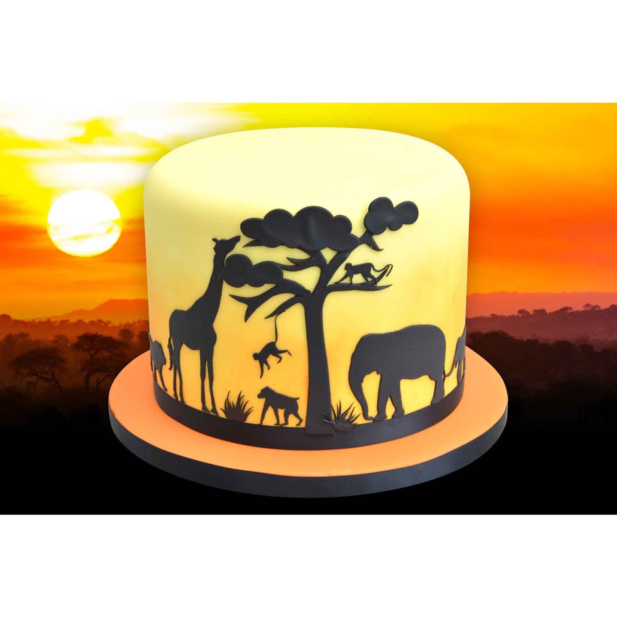 Patchwork Cutter Safari Silhouette Set Lollipop Cake