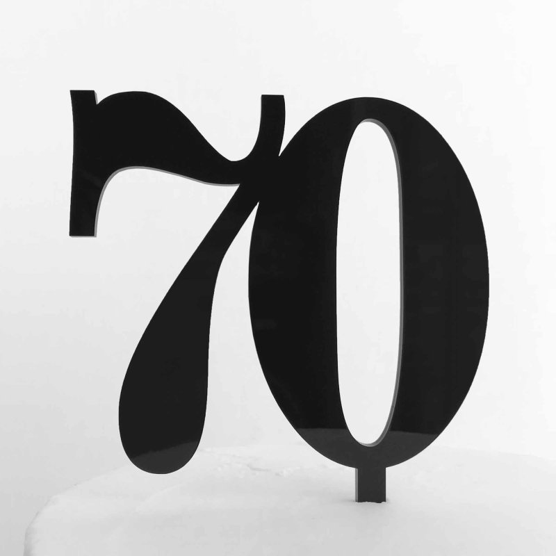 number 70 cake topper double numbers toppers acrylic 10cm