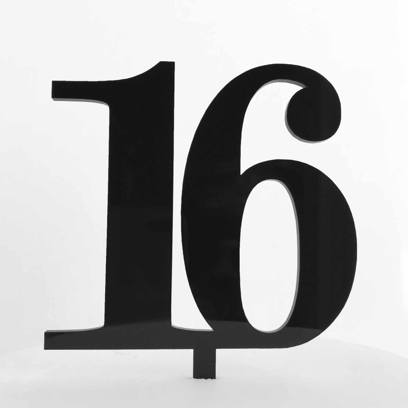 Black Cake Topper Numbers