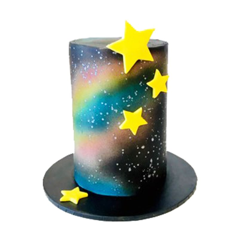 Spaced Out Beginner Airbrush Cake Class | Lollipop Cake ...